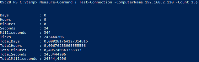 How to get the execution time of a cmdlet in PowerShell - Measure-Command