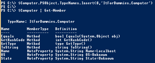 PowerShell-Object-CustomType