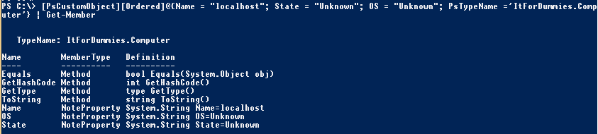 PowerShell-Object-CustomTypeAtCreation