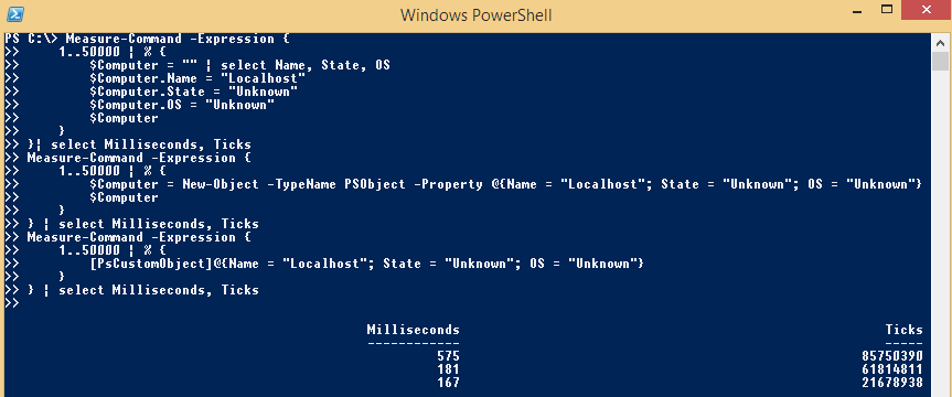 PowerShell-Object-Performances