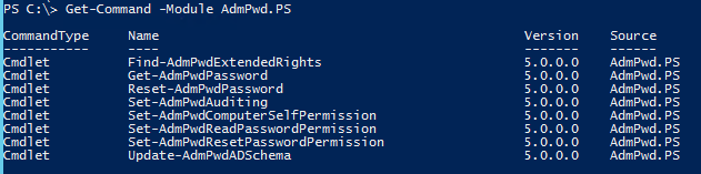 Local Administrator Password Solution for Domain Joined Computers - PowerShell Cmdlets