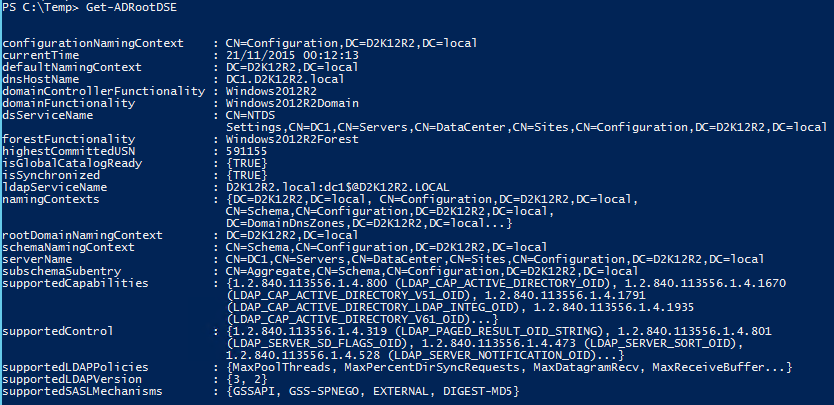 Get Domain Password Policy with PowerShell - Get-ADRootDSE