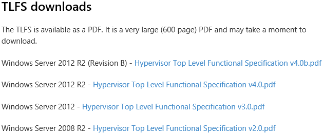 Hypervisor Top-Level Functional Specification
