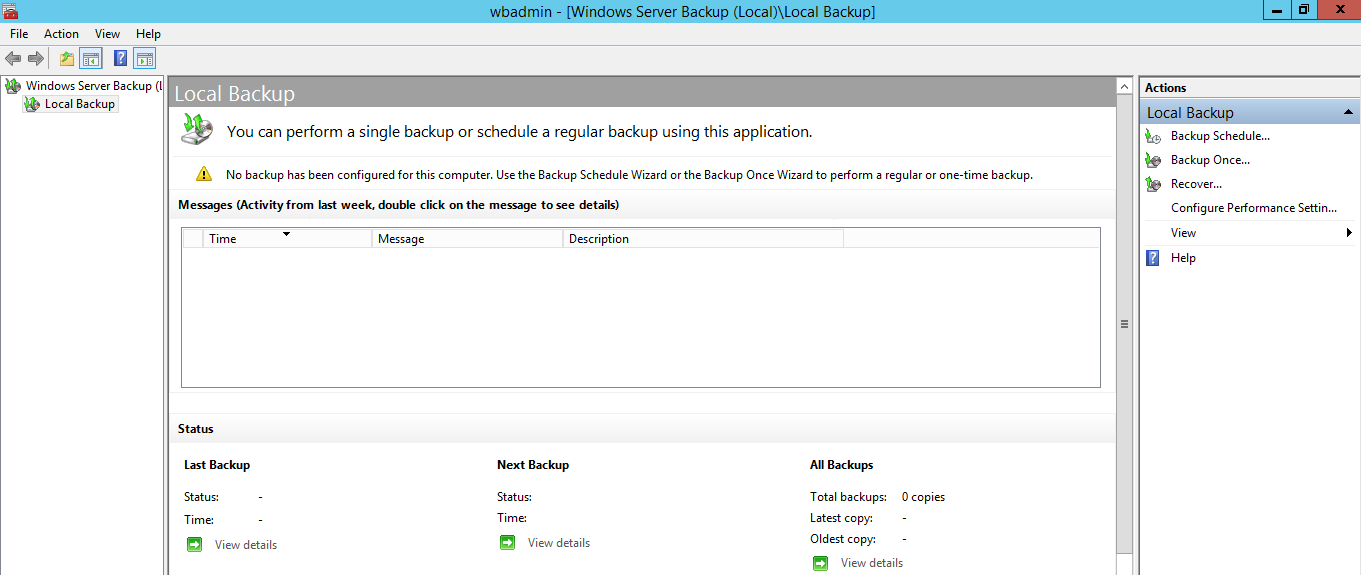 Configure Active Directory Backup - GUI
