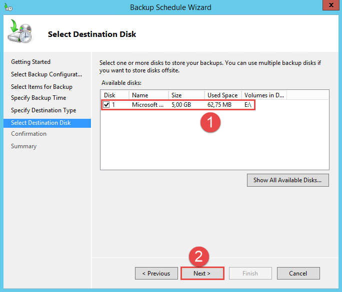 Configure Active Directory Backup - Schedule Backup 10