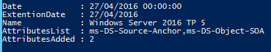 Windows Server 2016 Technical Preview 5 Active Directory