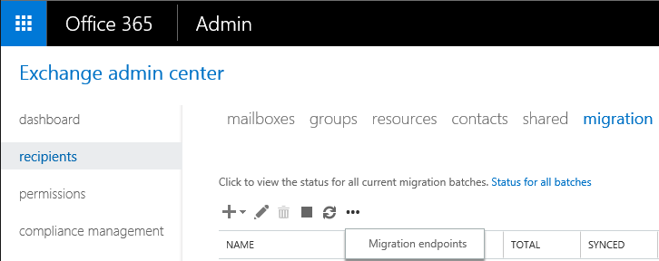 Troubleshooting Hybrid Migration - Endpoint GUI