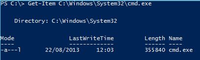 Get File Information Remotely PowerShell - CMD file