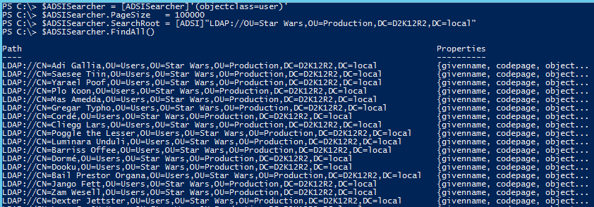 Active Directory PowerShell ADSI ADSISearcher - ADSISearcher