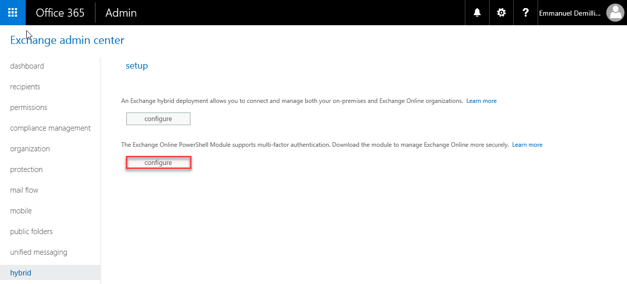 Connect Office 365 Services PowerShell - Exchange Online ADALConfigure