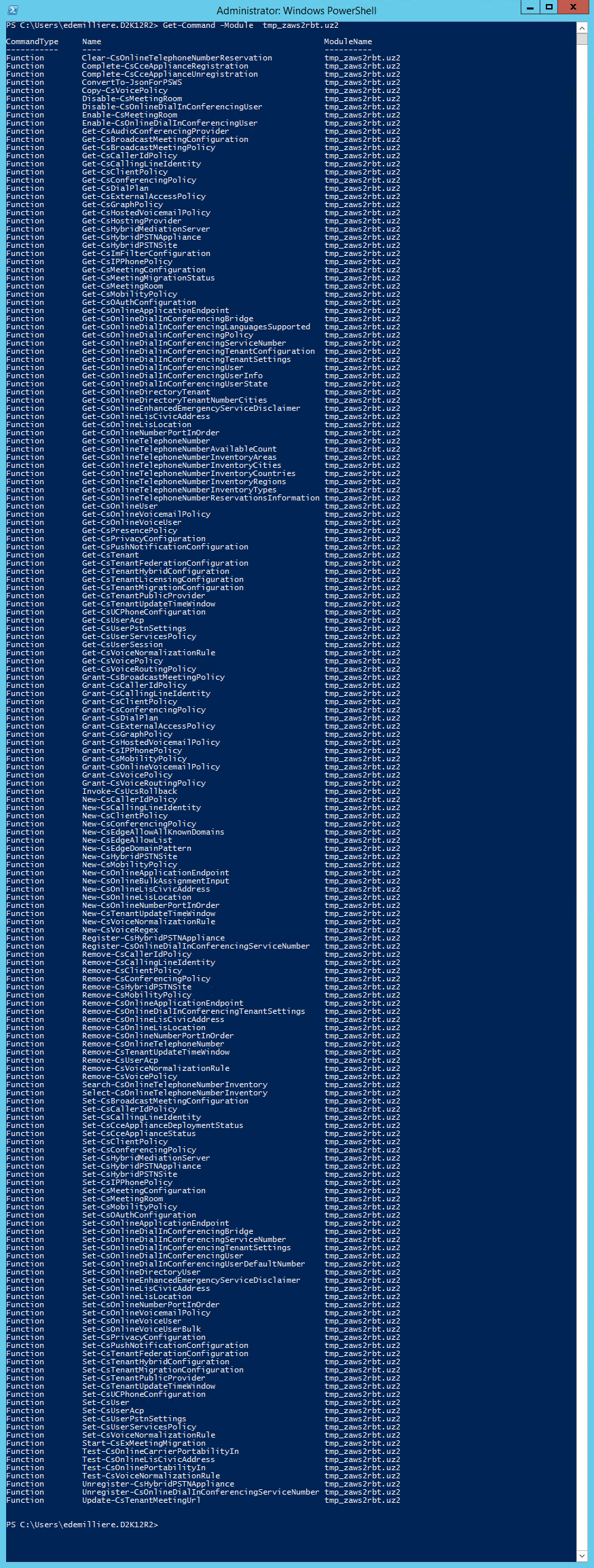 Connect Office 365 Services PowerShell - Skype Online Cmdlets