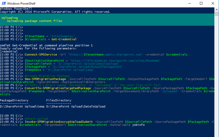 Migrate Data SharePoint Online PowerShell - Pure PowerShell Upload