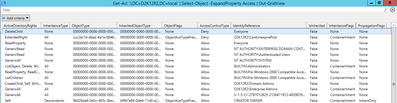 Active Directory PowerShell Module - Get-ACL