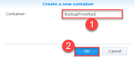 Backup Synology NAS Azure - Azure Storage Account Container