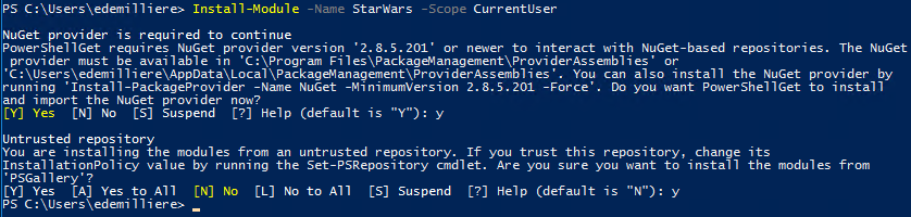 Active Directory Star Wars PowerShell Module - Install Module