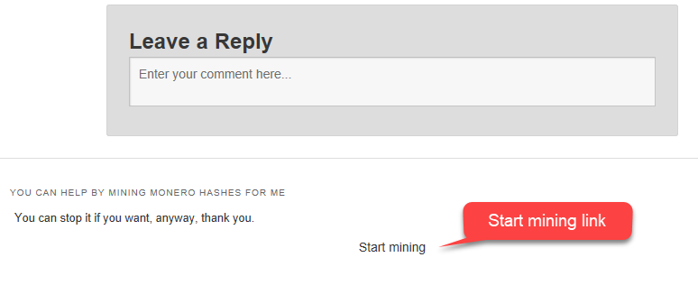 Crypto Currency Mining to Found this Site - Start Mining