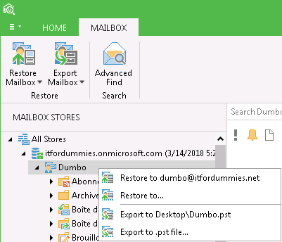 Backup Export Office 365 Exchange Online Mailbox Export Mailbox to PST