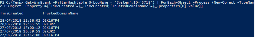 Get EventLog Event Details Content PowerShell - End Result
