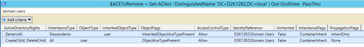 Remove Active Directory ACL PowerShell - Bad ACE to Remove